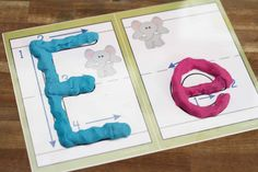 Preschool Letter of the Week E - play dough mats with correct letter formation. Great for fine motor skills and learning to write letters correctly.