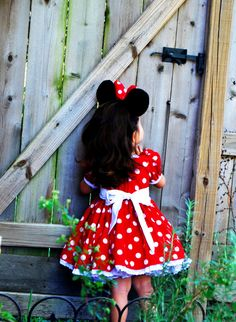 Minnie Mouse Dress Empire Waist Size by FreckledFrogFrocks Minnie Mouse Costume, Minnie Mouse Theme, Mickey Y Minnie, Mickey Mouse Parties, 2nd Birthday Photography, Disfraz Minnie Mouse, Funny Dresses, Second Birthday Ideas, Disney Outfits