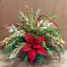 Designed by Arcadia Floral & Home Decor Cool Christmas Trees, Christmas Flowers, Christmas 2014, All Things Christmas, Christmas Flower Arrangements, Christmas Centerpieces, Xmas Decorations, Floral Arrangements, Holiday Wreaths