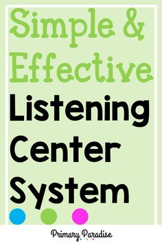 Learn how to set up a simple system to make listening centers easy and hassle free in your classroom. Guided Reading Organization, Guided Reading Activities, Teacher Organization, Teacher Hacks, Classroom Activities, Kindergarten Centers, Kindergarten Reading, Teaching Reading, Teaching Ideas