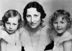 Crown Princess Martha of Norway with her two girls, Princess Ragnhild and Princess Astrid