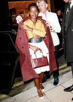 Lupita Nyong'o at the Bally store launch on New Bond Street in ...