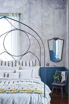 The Inspired Home: Anthropologie's Spring 2016 Home Decor, Kitchen, and Furniture Collections Unique Bed Frames, Bed Frame And Headboard, Spring Home, Spring 2016, Beautiful Bedrooms, Simple Bedrooms, Home And Deco, Furniture Collection, Book Collection
