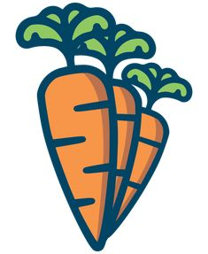 Outlined image of three orange carrots. Carrot Drawing, Vector Icons, Vector Free, Outline Images, Food Icons, Kindness Rocks, Evie, Public Domain, Icon Set