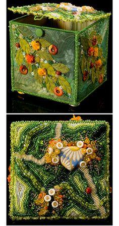 Original Mixed Media Textile Art Piece Appliqu\u00e9 Machine and Hand Embroidery.