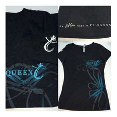 Besides the fact that our shirts are crazy comfy how cute are they?? Order yours today for only $24.99!! >>>www.QueenCHair.com<<< #beMorethanaPrincess #shirt #womensfashion
