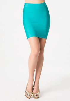 Solid Bandage Skirt