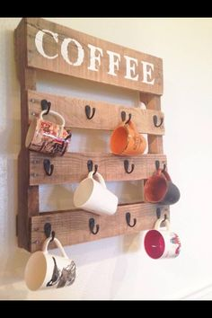 Looks like a pallet maybe or some reclaimed wood.... Def a neat idea!
