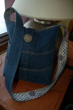 Plenty of Pockets Denim Tote, Purse