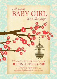 cheap baby shower invitations for girl 3