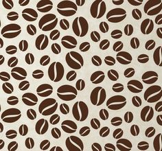 A wall #sticker with a #design of various #coffee beans in different sizes to #decorate your home or business. #tenstickers #Kaffeebohne #Kaffee #Küche