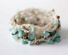 Beaded  Wrap Necklace Bracelet Anklet Boho Jewelry by beadedwire
