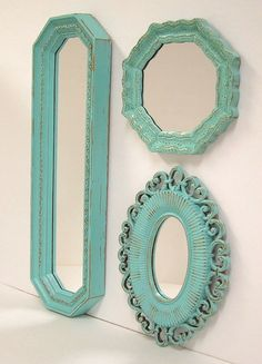 Shabby Chic Wall Mirrors Cottage Ornate by MountainCoveAntiques, $74.00