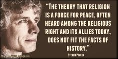 The theory that religion is a force for peace, often heard among the religious right and its allies today, does not fit the facts of history.