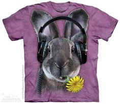 DJ Hiphop T-shirt | Bunny T-shirts | The Mountain® | Manimals T-shirts