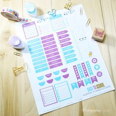 Back to School Planner Stickers | Free printable download.