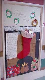 Stocking hung by the chimney with a letter to Santa
