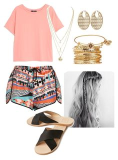 """""""Summer day"""" by raeganwhite20 ❤ liked on Polyvore featuring MANGO, River Island, Dolce Vita, Alex and Ani and Michael Kors"""