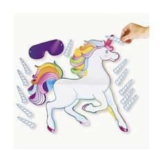 PIN the HORN on the UNICORN/Birthday Party GAME/Blindfold & INSTRUCTIONS Included/GIRL'S PARTY