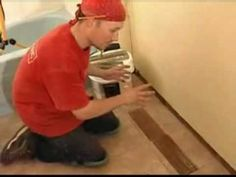 Video for installing marble baseboard tiles