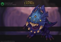 Long time lurker, this is one of my first posts. the idea is to make a kog'maw skin that looks like he's the child of the updated version of baron nashor. Creature Concept Art, Baron, Battleship, Creatures, Lol, Legends, Gaming, Child, Posts