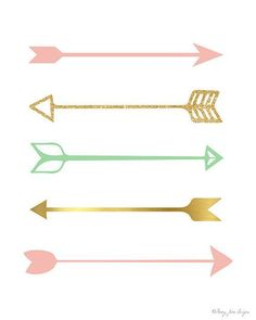 Shop for unique nursery art like the Pink and Gold Arrows Art Print for Nursery Decor Wrapped Canvas Print by pennyjanedesigns on BoomBoomPrints today! Customize colors, style and design to make the artwork in your baby's room their own! Teenage Girl Room Decor, Baby Girl Room Decor, Teen Girl Bedrooms, Big Girl Rooms, Diy Room Decor, Kids Bedroom, Baby Room, Baby Decor, Decor Crafts