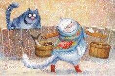 """Фото из альбома """"Коты - открытки получены"""" - GoogleФото"""