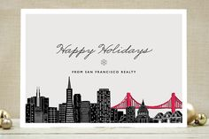 Big City - San Francisco Business Holiday Cards by Hooray Creative available through Orpheus Photography