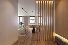 Room divider wall - Partitions are used to divide interior spaces and create new rooms. Flat Interior, Interior Walls, Home Interior Design, Living Room Partition Design, Room Partition Designs, Ikea Room Divider, Wall Dividers, Living Room Designs, House Design