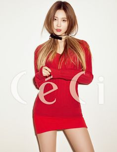 "Girl's Day's Yura Is a ""Sexy Santa Girl"" for CeCi Magazine Korean Girl, Asian Girl, Korean Idols, Girls Day Members, Kim Ah Young, Girl's Day Yura, Girl Bands, Girl Day, Beautiful Actresses"