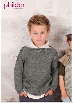 Pull enfant modèle Phildar 2 à 14 ans                                                                                                                                                                                 Plus