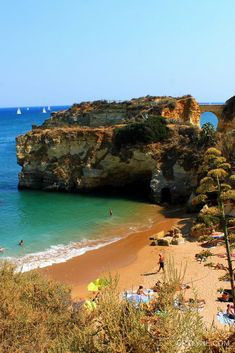 The Algarve, Portugal  Gorgeous beach #travel #portugal #photography #algarve