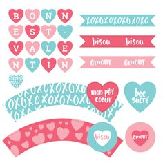 Collection complète St-Valentin, Bec Sucré. Valentine's Day french printables.  www.lebaraidees.com