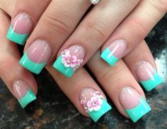 Easy Flower Nail Designs New 45 Easy Flower Nail Art Designs for Beginners Flower Nail Designs, Flower Nail Art, Cute Nail Designs, Acrylic Nail Designs, Easy Designs, French Nails, French Acrylic Nails, 3d Nails, Cute Nails