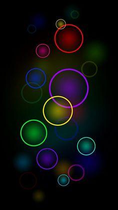 Wallpaper… By Artist Unknown… Wallpaper … Von Artist Unknown … Bubbles Wallpaper, Neon Wallpaper, Rainbow Wallpaper, Apple Wallpaper, Colorful Wallpaper, Mobile Wallpaper, Wallpaper Backgrounds, Wallpaper Online, Black Backgrounds