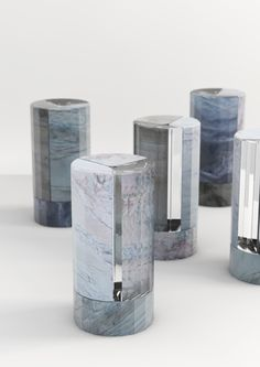 Aldo Bakker, Crystal Vase, single-stem vase, crystal and marble, 2016