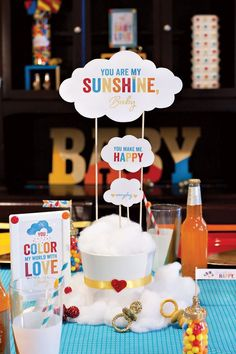 Easy-to-Make Baby Shower Centerpiece: You Are My Sunshine