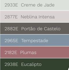 Combinações de tonalidades com a cor de 2018 eleita pela Eucatex Tintas, verde Eucalipto. Home Health, Pantone, Decoration, Paint Colors, Living Room Decor, New Homes, House, Exterior, Design