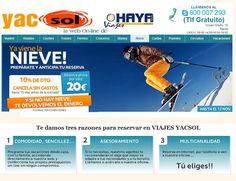 www.yacsol.com ofrece a sus amigos  un 10% de descuento y sin gastos de cancelación si reservas ya tu viaje a la nieve , a qué esperas!!! reserva por sólo 20,00€