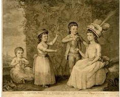 Charlotte, George, William & Edward, children of Sr William Jerningham, 1777. British Museum 1943,0410.1230