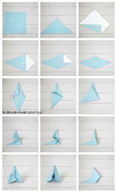 「折り紙」で作るバーンスター、アニースローンペイントでさらにリアルに