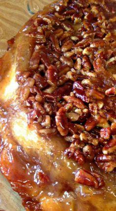 Upside Down Apple Pie Recipe - ♥ Fall ❦ Thanksgiving Deliciousness - Torten Apple Cake Recipes, Apple Desserts, Just Desserts, Delicious Desserts, Dessert Recipes, Apple Pie Cupcakes, Bread Recipes, Easy Dinner Recipes, Fall Recipes