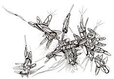#abstractart #black #blackmarker #drawing #felt #handdrawing #indianink #marker #pen #pilot #spacecraft #uni #felttippen #futuristic #scifi #vessel #landscape #clairefontaine // 2018-025