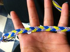 Learn how to make friendship bracelets_____ _____ _____ _____ _____ _____ _____ _____ _____ Photo by Added by craftybish Friendship bracelet pattern 117 #diy #doityourself #howto #instructions #hobby #tutorial #braceletbook #plaid #chevron #overlapping #stripes #chevron