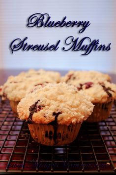 Blueberry Streusel Muffins Recipe great for making and putting in the freezer so you can just heat them up for breakfast on school mornings :) http://www.midgetmomma.com/?p=74571