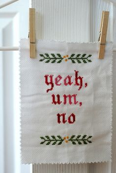 If I only had a few weeks I'd make a set of linen napkins with subversive sayings and give them out for gifts...
