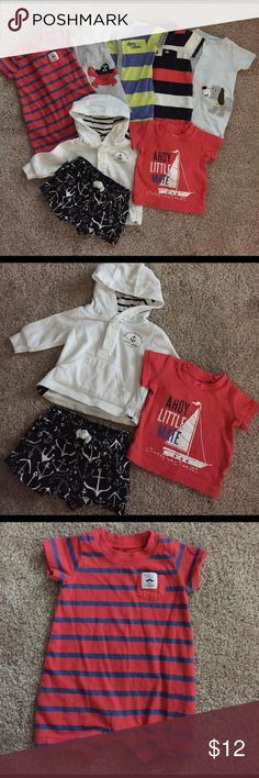 🌷Spring Sale🌷Carter's Summer Outfit Bundle 6 Spring/Summer Newborn Outfits! So cute and in excellent condition!! Carter's Matching Sets