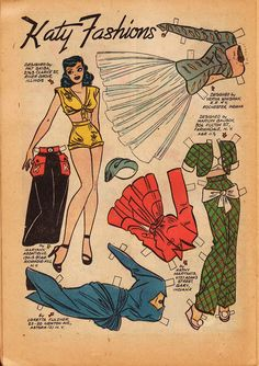 Paper Dolls: In case any of you had a few minutes to spare and felt like dressing some vintage ladies, here are some nifty outfits. Jane ...
