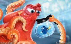 #Hank the octopus is helping #Dory in this hd wallpaper :} #FindingDory