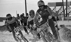 Scot Breithaupt leads the pack in a race in Las Vegas in 1976. He became one of the cycling sport's best known figures.